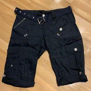 INC women's black cargo shorts - size L